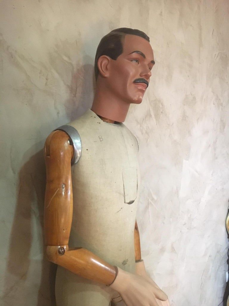 Lifesize French Siegel  Paris Plaster Mannequin, 1930s In Good Condition For Sale In LEGNY, FR