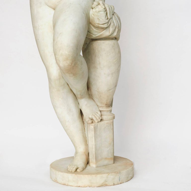 Mid-19th Century Lifesize Sculpture of Venus in White Statuary Marble, circa 1860s For Sale