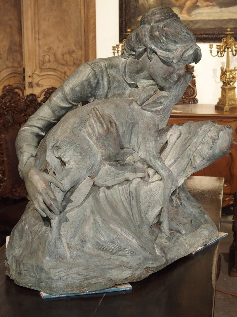 Life-Size Veryl Goodnight Bronze Sculpture-Woman and Orphaned Deer 'Number 1' For Sale 10