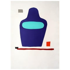 """LIFLA"" Original Bauhaus Artist Linocut Print, Signed Werner Graeff"