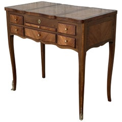 "Lift Top Kingwood Louis XVI Marquetry Lady's Vanity Table, ""Perruquierre"""