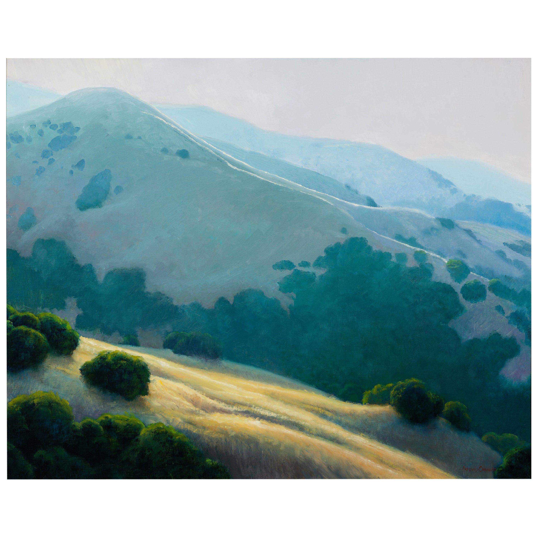 Lifting Fog, Californian Landscape, Armand Cabrera Oil on Canvas
