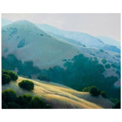 Lifting Fog, Californian Landscape, Armand Cabrera Oil on Canvas