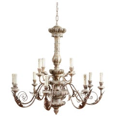 Light and Airy Silver Gilt Chandelier
