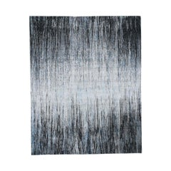 Light And Dark Ombre Design Pure Wool Hand Knotted Oriental Rug