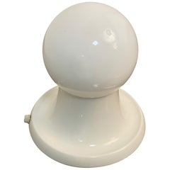 """""""Light Ball"""" by Castiglioni for Flos, White Table Lamp with Opaline Glass, Italy"""