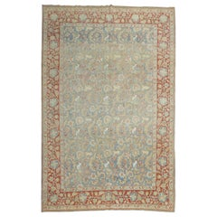Light Blue Animal Persian Qum Rug