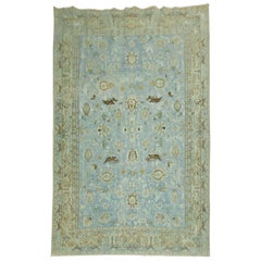 Light Blue Animal Persian Tabriz Rug