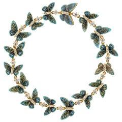Light-Blue Butterfly Bracelet by Ilgiz F