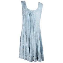 Light Blue Chanel Knit Tank Dress