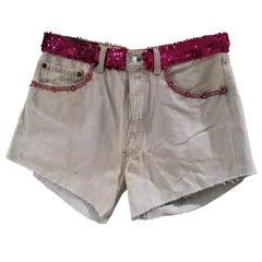 Light blue denim SOAB shorts