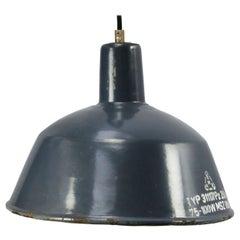 Light Blue Enamel Vintage Industrial Factory Pendant Lights