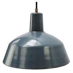 Light Blue Enamel Vintage Industrial Factory Pendant Lights
