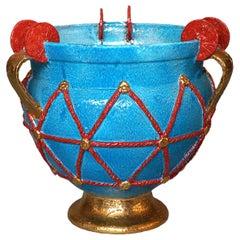 Light Blue Etruscan Vase