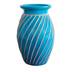 Light Blue Floor Vase