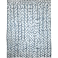 Nazmiyal Collection Light Blue Modern Moroccan Style Rug. Size 9 ft x 11 ft 4 in