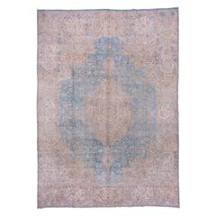 Light Blue Persian Kerman Carpet, circa 1930s