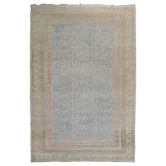Light Blue Pink Large Antique Khotan Rug, Early 20th Century