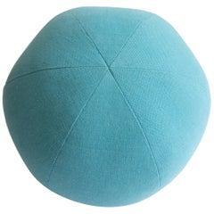 Light Blue Round Ball Throw Pillow
