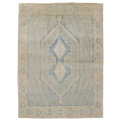 Light Blue Sand Tone Persian Tribal Rug