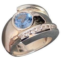 Light Blue Sapphire and Diamond Ring, 1.60 Carat, Ben Dannie Original Design