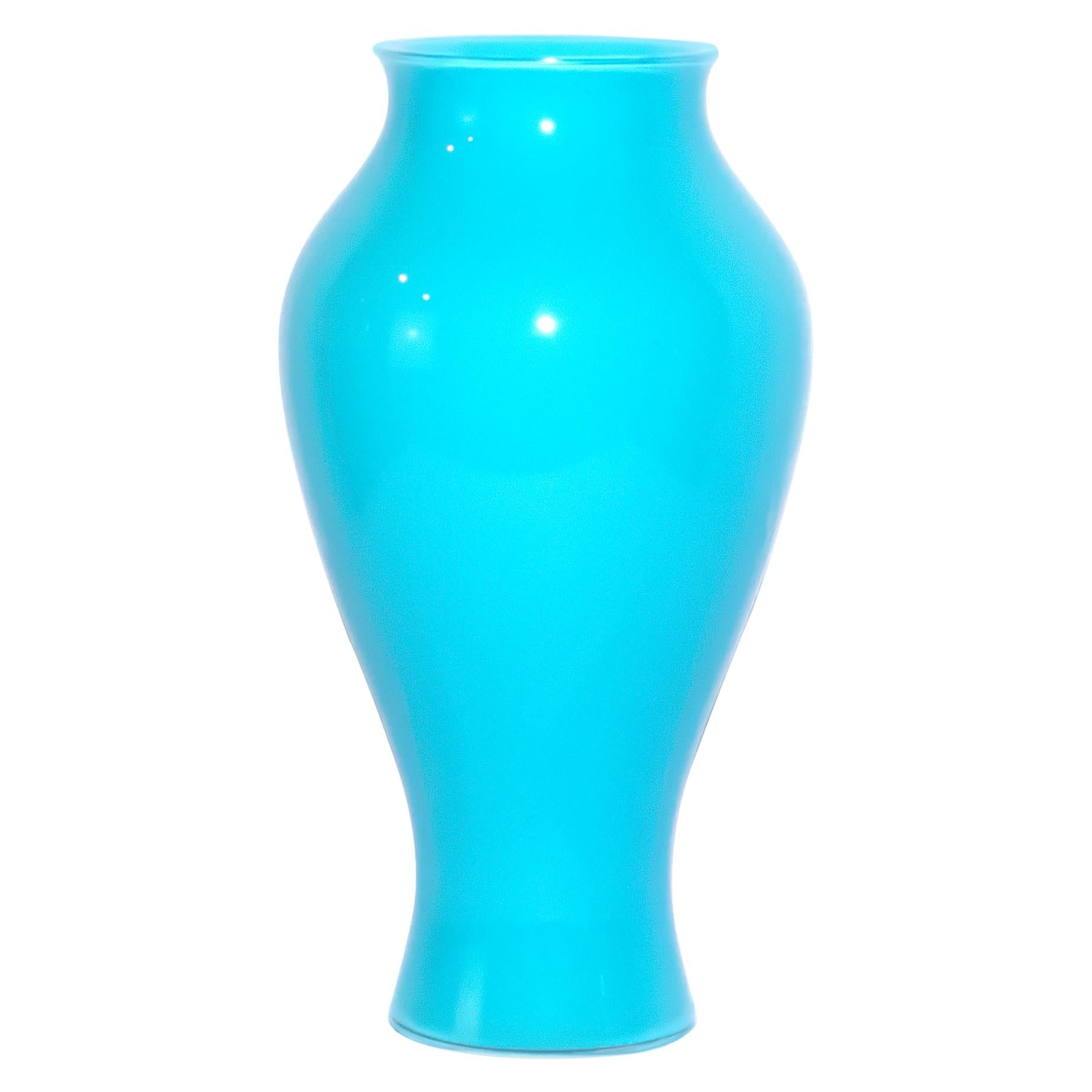 Light Blue Vase by Ercole Barovier for Barovier & Toso, 1970s