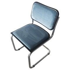 Light Blue Velvet Cesca Chairs, Three Available