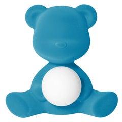 In Stock in Los Angeles, Light Blue Velvet Teddy Bear Lamp LED