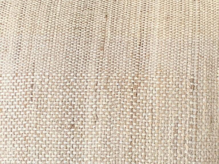 Light Brown, Dark Brown Animal Print Pattern Handspun Linen Pillows, Indonesia 6