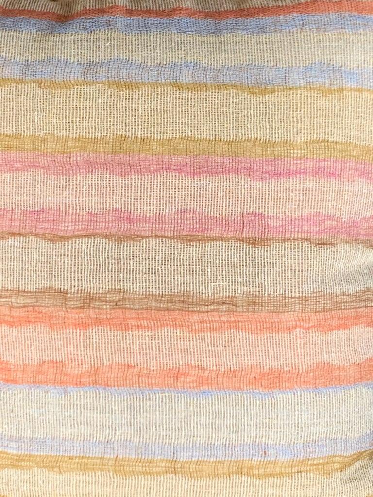 Light Brown, Dark Brown Animal Print Pattern Handspun Linen Pillows, Indonesia 8