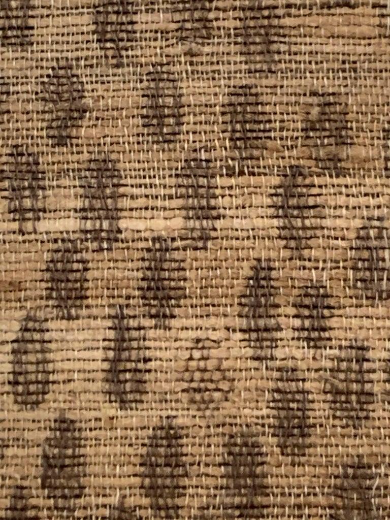 Contemporary Light Brown, Dark Brown Animal Print Pattern Handspun Linen Pillows, Indonesia