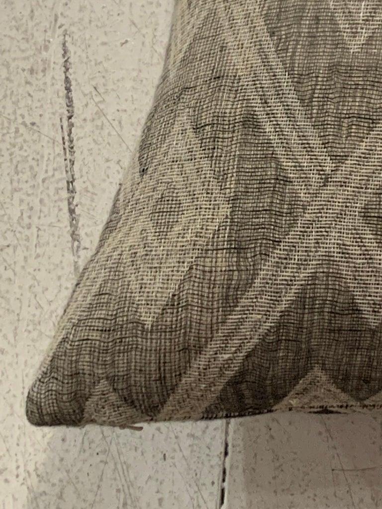 Light Brown, Dark Brown Animal Print Pattern Handspun Linen Pillows, Indonesia 2