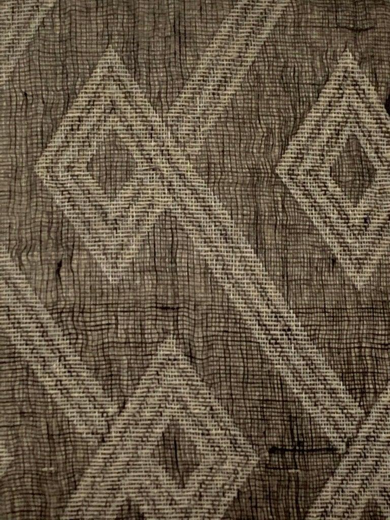 Light Brown, Dark Brown Animal Print Pattern Handspun Linen Pillows, Indonesia 3