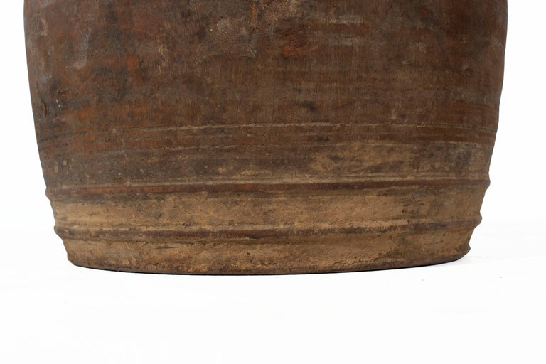 18th Century and Earlier Light Brown Storage Jar For Sale