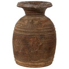 Light Brown Storage Jar