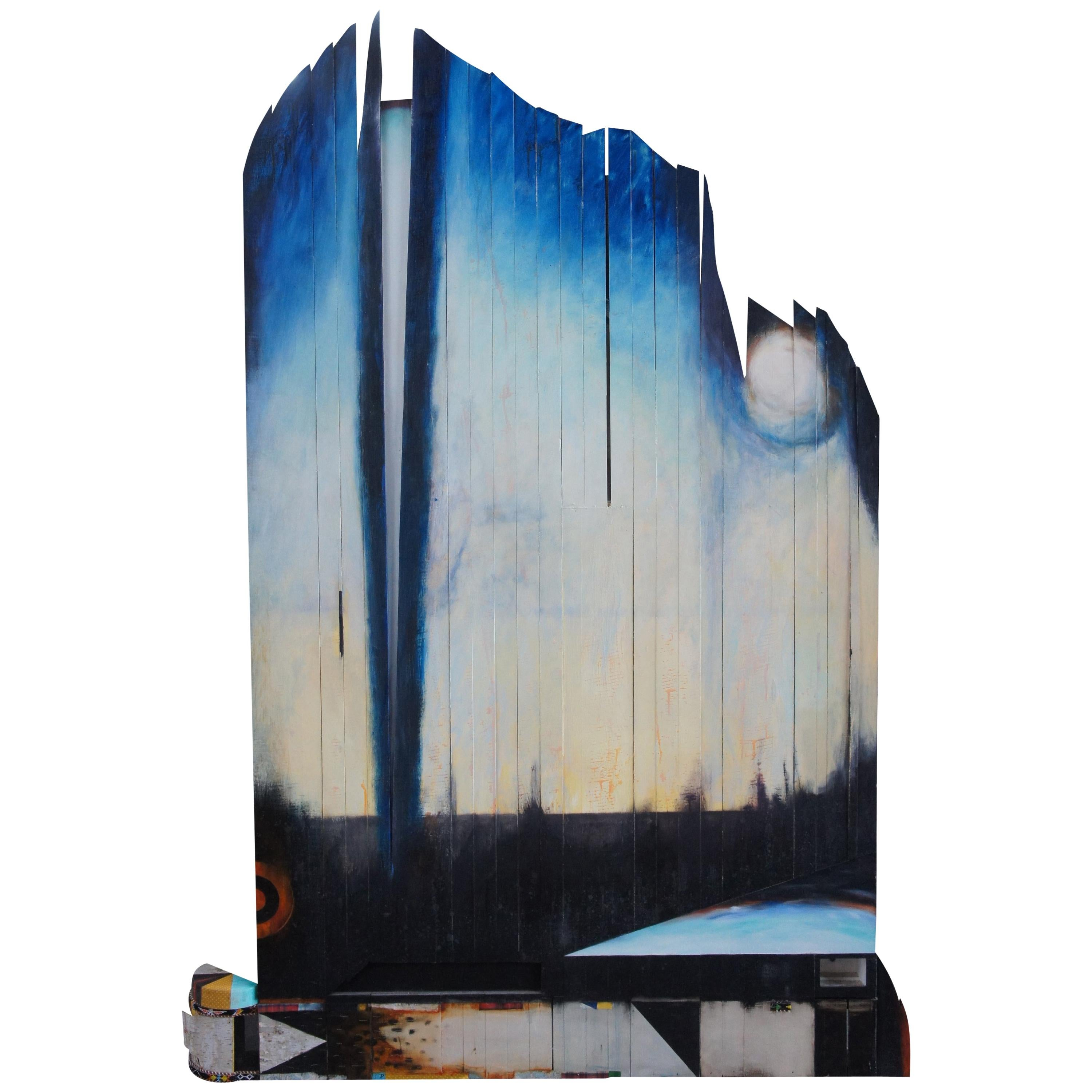 Light Coming on the Plains by Cameron Zebrun 1987 Mixed-Media Oil on Wood Panels