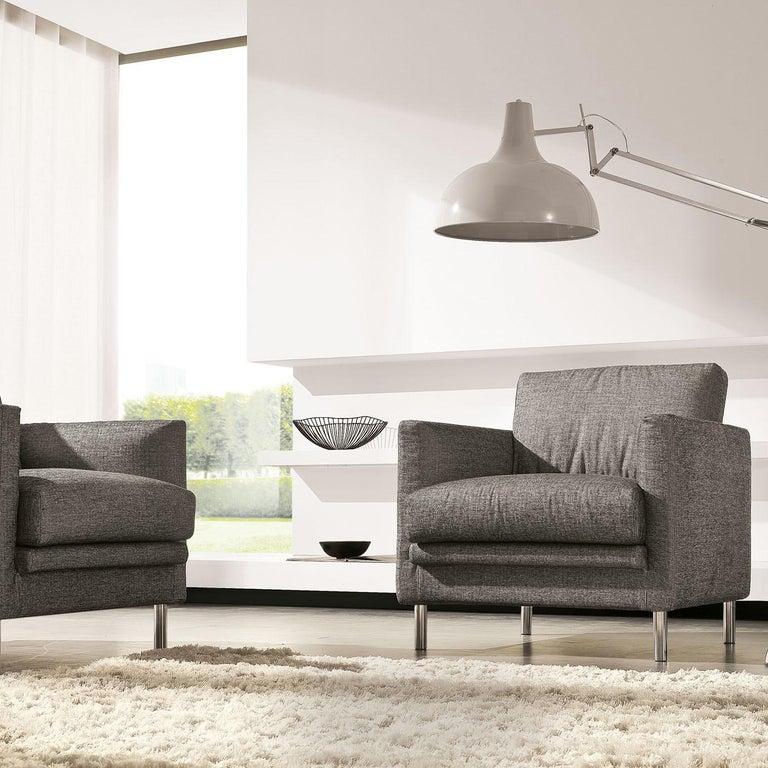 Italian Light Gray Armchair For Sale