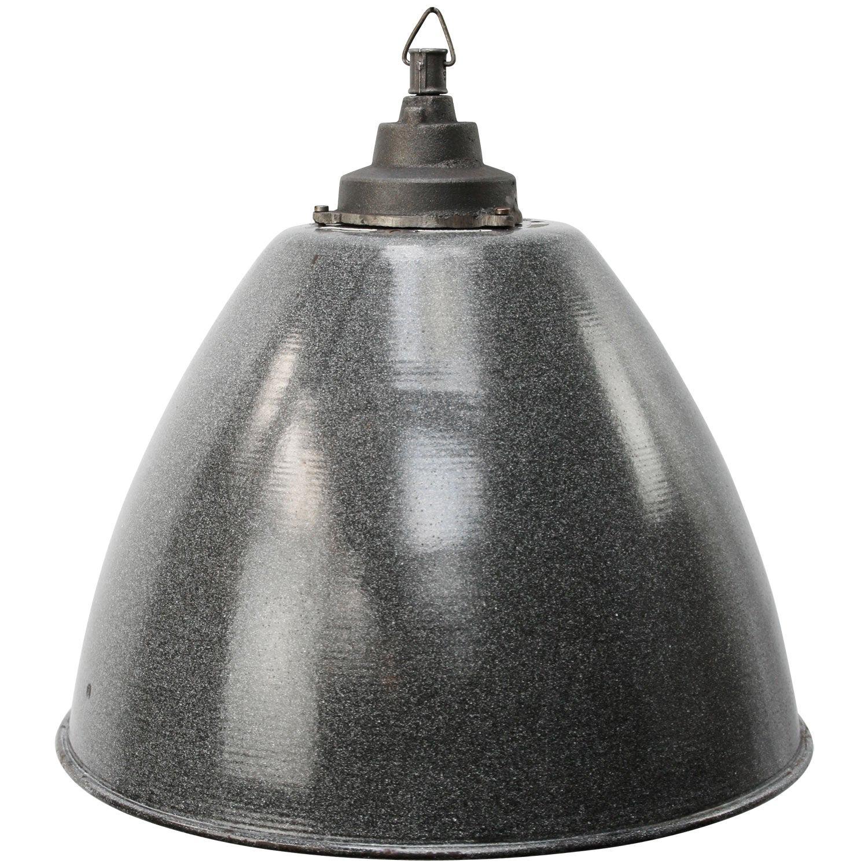 Light Gray Enamel Vintage Industrial Cast Iron Pendant Lights