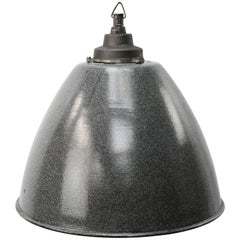 Light Gray Enamel Vintage Industrial Cast Iron Pendant Lights