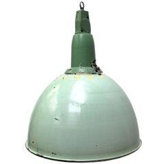 Light Green Enamel Vintage Industrial Cast Aluminum Top Pendant Lights
