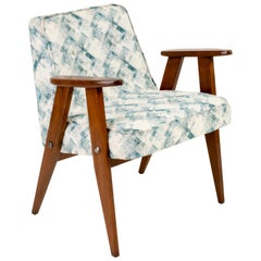 Light Green Pattern 366 Armchair, Jozef Chierowski, 1960s