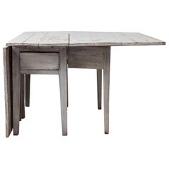Light Grey Swedish Neoclassical Dining Table