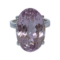 Light Pink Amethyst Ring Set in Sterling Silver