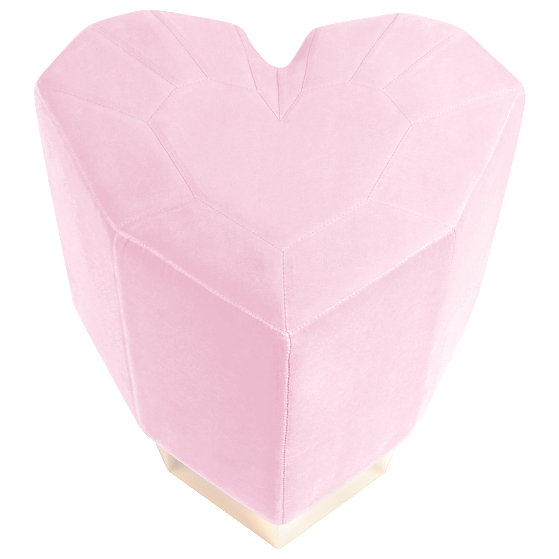 Light Pink Queen Heart Stool by Royal Stranger