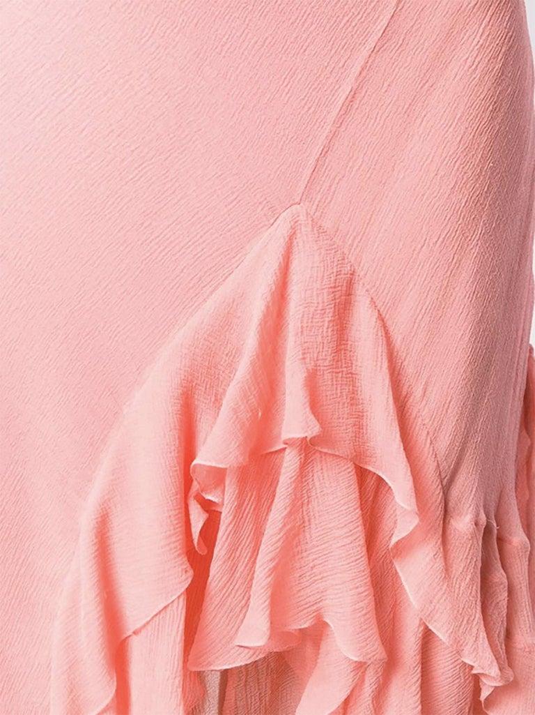 Light Pink Silk Cristian Dior Cocktail Dress For Sale 1