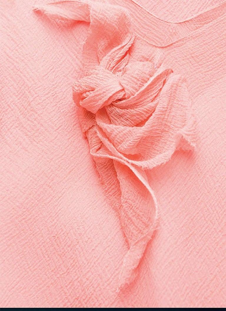 Light Pink Silk Cristian Dior Cocktail Dress For Sale 2