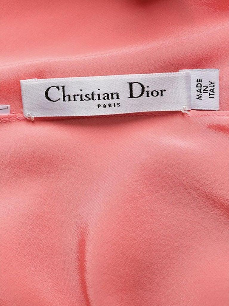 Light Pink Silk Cristian Dior Cocktail Dress For Sale 4