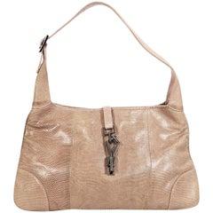 Light Purple Gucci Exotic Skin Shoulder Bag