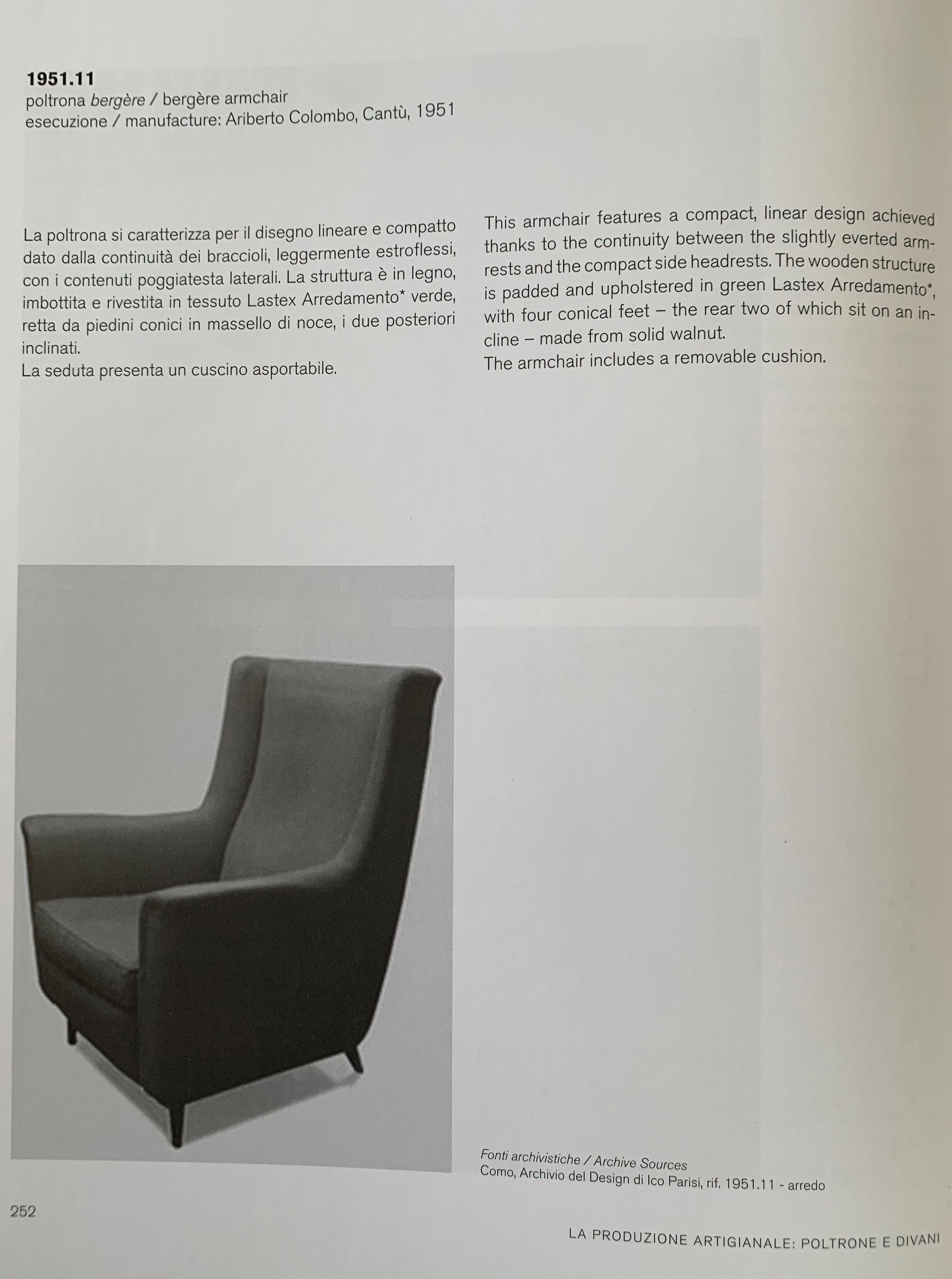 Tessuti Arredamento Per Divani light rose ico parisi armchair, 1950s, italy