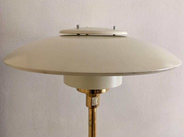 Scandinavian Modern Light Studio by Horn Brass Floor Lamp, Model 1585 For Sale